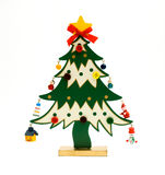 Christmas tree. Christmas decorative tree on a white background Stock Photos