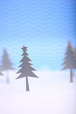 Christmas tree. Christmas greeting card with tree royalty free illustration