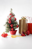 Christmas tree. And some presents Stock Images
