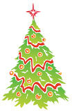 Christmas tree. Drawing of christmas tree in a white background Royalty Free Stock Image