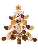 Christmas tree. From christmas biscuits Royalty Free Stock Photo