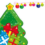 Christmas Tree. Vector illustration for your design Royalty Free Stock Photography