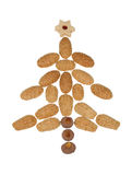 Christmas tree. From christmas biscuits Royalty Free Stock Photos