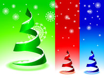 Christmas Tree. You can change it because you have a layered eps file Royalty Free Stock Photo