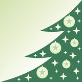 Christmas tree. Illustration of christmas tree with christmas balls and stars Stock Illustration