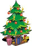 Christmas tree. Green christmas tree hand draw Stock Illustration