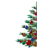 Christmas tree. Vector decoration illustration Royalty Free Stock Images