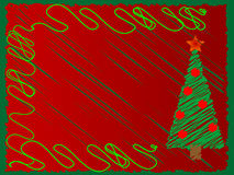 Christmas Tree. Design suitable for cards royalty free illustration