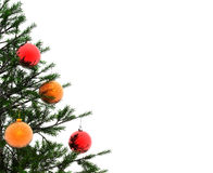 Christmas tree. Xmas tree and balls -  3d scene Stock Images