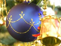 On christmas tree royalty free stock photos