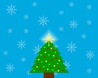 Christmas tree. Holiday background good for greeting cards or postcards Stock Image