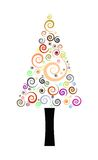 Christmas Tree. Helix christmas tree illustration. decorated tree Stock Photography
