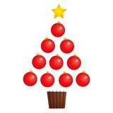 Christmas Tree. Christmas ornaments in the shape of a christmas tree Stock Image