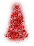 Red Christmas tree Royalty Free Stock Photos