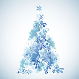 Christmas Tree. A Christmas Tree made up of winter elements Stock Images