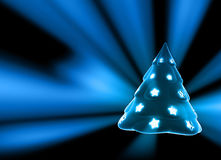 Christmas Tree. Christmass Tree with shiny stars Stock Image