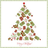 Christmas tree. Made with gifts Royalty Free Stock Photography