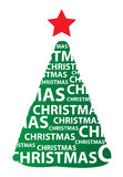 Christmas tree. A vector Christmas tree made of 2011 digits Royalty Free Stock Photography