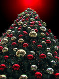 The Christmas tree. Giant Christmas tree at a shopping center Royalty Free Stock Image