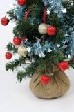 Christmas tree. Apples on a christmas tree Royalty Free Stock Image