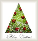 Christmas tree. Card holiday white new background Royalty Free Stock Photography