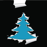 Christmas tree. Paper with hole like Christmas tree, element for design,  illustration Stock Photography