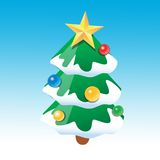 Christmas tree. For new year Royalty Free Stock Photography