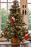 Christmas Tree. Decorated Holiday Christmas Tree with Ornaments and lights stock photography