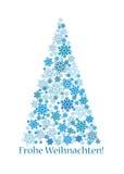 Christmas Tree. Abstract christmas tree made of snowflakes Stock Image