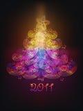 Christmas tree. Spectrum, shining ornamental Christmas tree Royalty Free Stock Photography