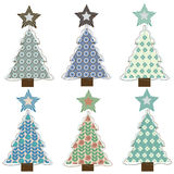 Christmas tree. Collection of stylized christmas trees for decor stock illustration