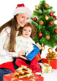 Beside Christmas tree Royalty Free Stock Photo