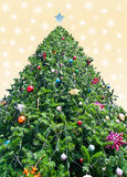 Christmas tree. With any decoration Royalty Free Stock Photos