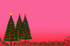 Christmas tree. On pink background Royalty Free Stock Photography