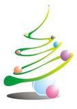 Christmas tree. Christmass tree and christmass balls on white background vector illustration