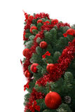 Christmas tree. Fabulous Christmas tree with red ornaments on it Stock Image