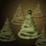 Christmas tree. Pretty christmas trees in depth royalty free illustration