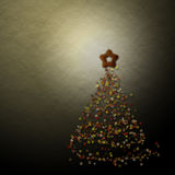 Christmas tree. Abstract christmas tree with low light light background royalty free stock photo