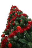 Christmas tree. Fabulous Christmas tree with red ornaments on it Stock Images