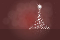 Christmas tree. Abstract art red christmas background cart Royalty Free Stock Photo