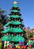 Christmas Tree. Made of Lego blocks at Legoland California, at Carlsbad royalty free stock photo