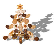Christmas tree. From christmas biscuits Stock Images