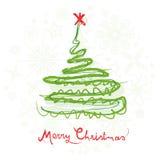 Christmas tree. Design tree for christmas and decorations Stock Image
