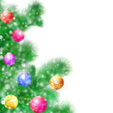 Christmas tree. On a white background royalty free illustration