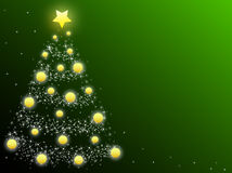 Christmas tree. This is a Christmas tree on green background Royalty Free Stock Photography