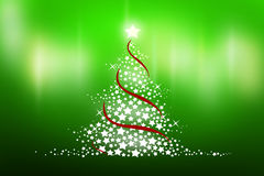 Christmas tree. Blue christmas tree background with star Royalty Free Stock Photos