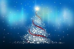 Christmas tree. On a blue bakground Stock Photo