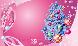 Christmas tree 2. Illustration of a Christmas tree with varios decorative elements Stock Image