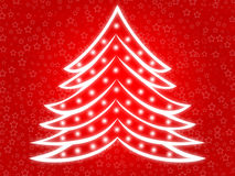 Christmas tree 2. Abstract christmas tree background with stars Royalty Free Stock Image