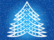 Christmas tree 2. Abstract christmas tree background with stars Stock Photo